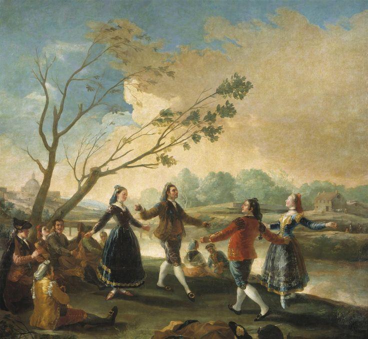 GOYA. Baile a orillas del Manzanares/Dancing on the banks of the Manzanares 1776 - 1777. Óleo sobre lienzo, 272 x 295 cm.