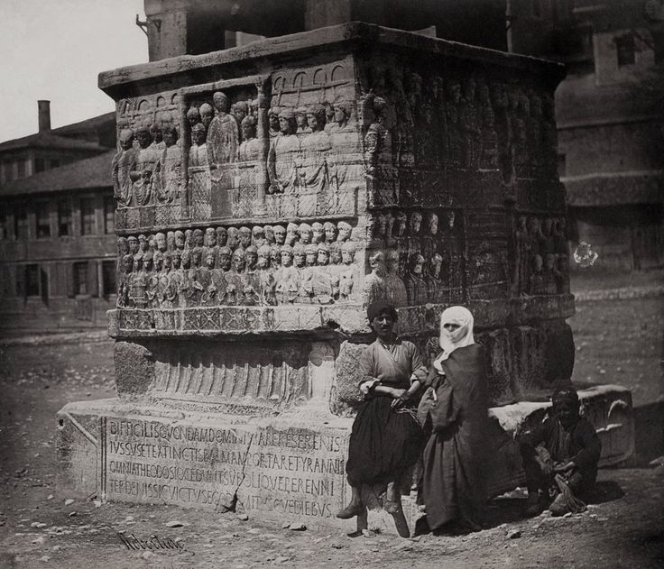 Obelisk of Theodosius, Constantinople 1855