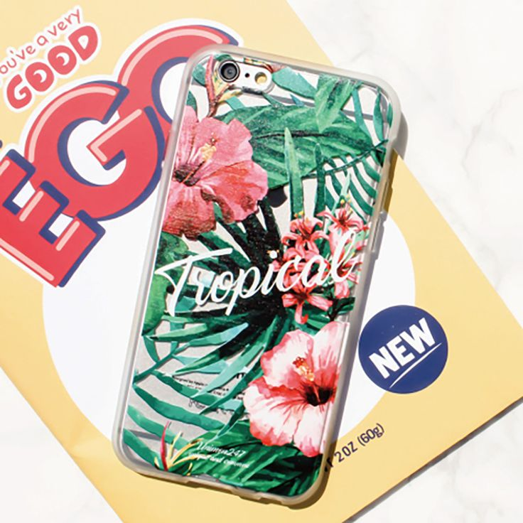 Jelly Clear Design Phone Case - Cool Tropical