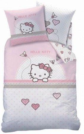 Hello Kitty szivecske ágyneműhuzat