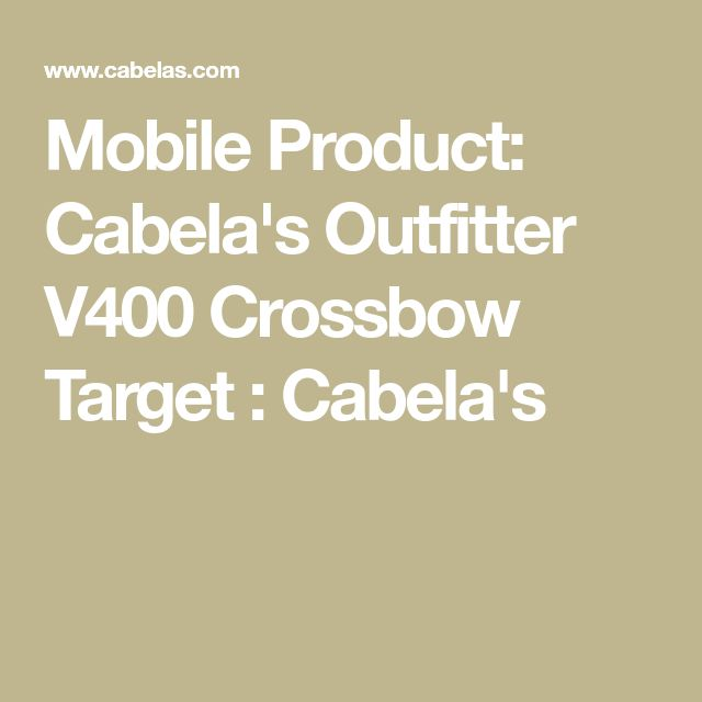 Mobile Product: Cabela's Outfitter V400 Crossbow Target : Cabela's
