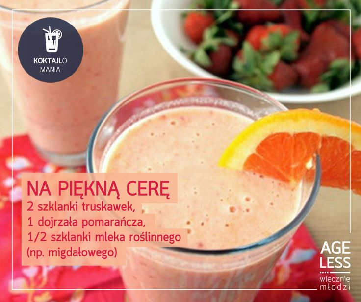 Koktajl na piękną cerę #smoothie #cocktail #fresh #vege #drink #mlodosc www.ageless.pl