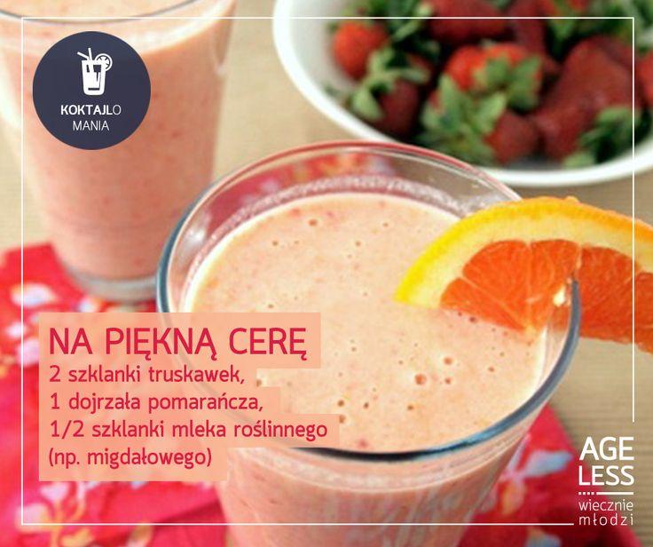 Koktajl na piękną cerę #smoothie #cocktail #fresh #vege #drink #mlodosc www.ageless.pl