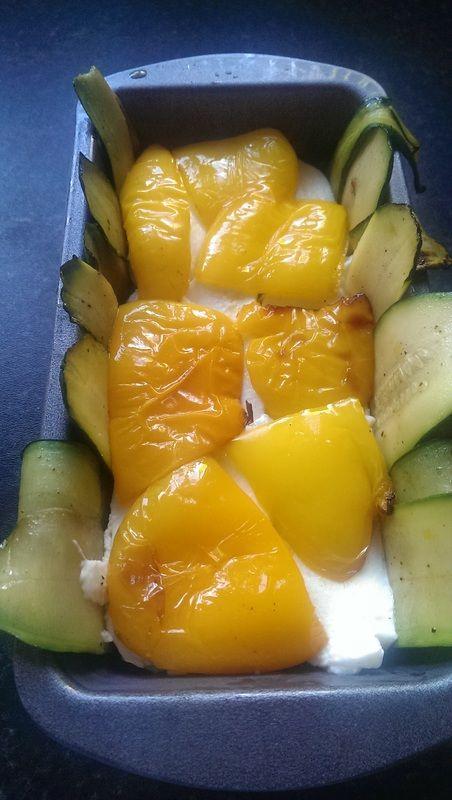 Roast veg & mozzarella terrine by chickpea girl, step by step guide Yum! 100 cals per slice <3
