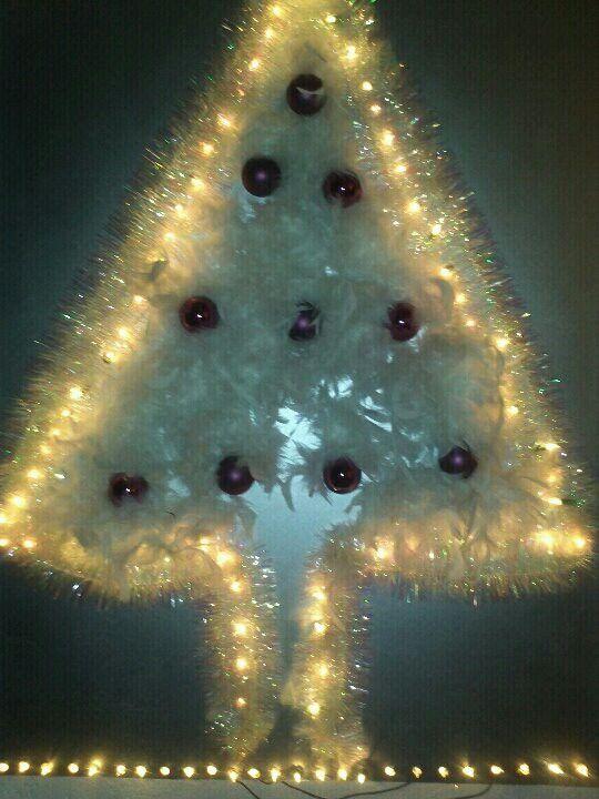 Kerstboom voor aan de muur