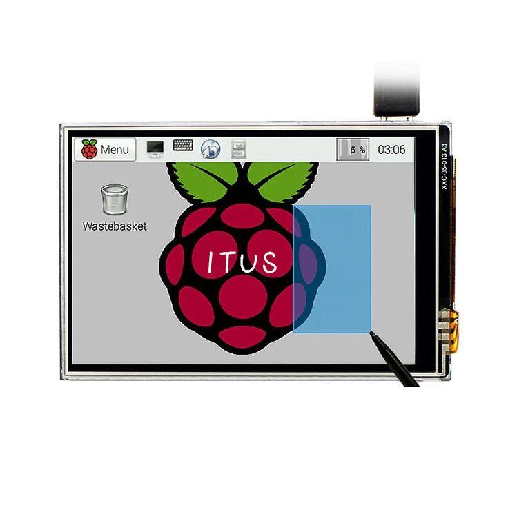 Бесплатная доставка пи малины 3.5 ЖК TFT сенсорный дисплей с сенсорным + стилус пи малины 2 / малина PI 3 модель B совета комплекткупить в магазине Amy's Trade ShopнаAliExpress