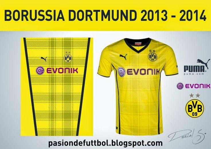 Diseños, Vectores y Templates para Camisetas de Futbol: BORUSSIA DORTMUND 2013 - 2014 TEMPLATE