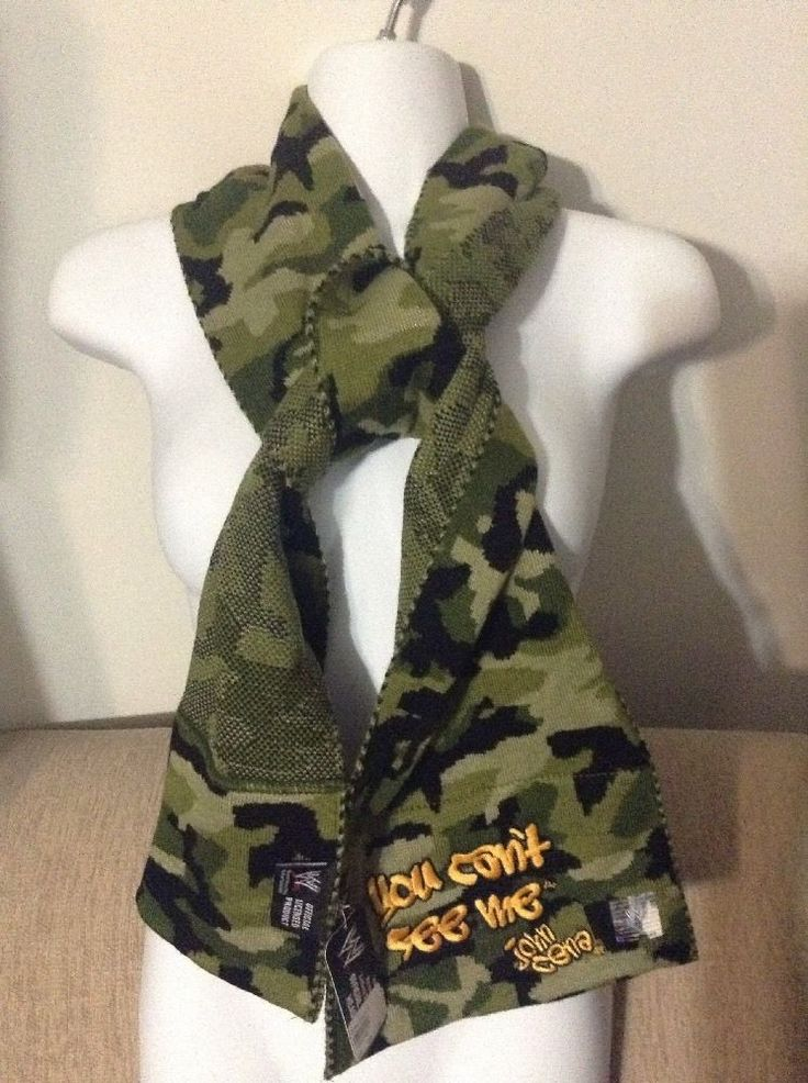 John Cena WWE Scarf Camo Black Green One Size Fits Most New With Tags #WWE