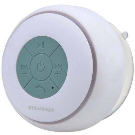 Sylvania Bluetooth Water-Resistant Suction Cup Shower Speaker Image 1 of 4