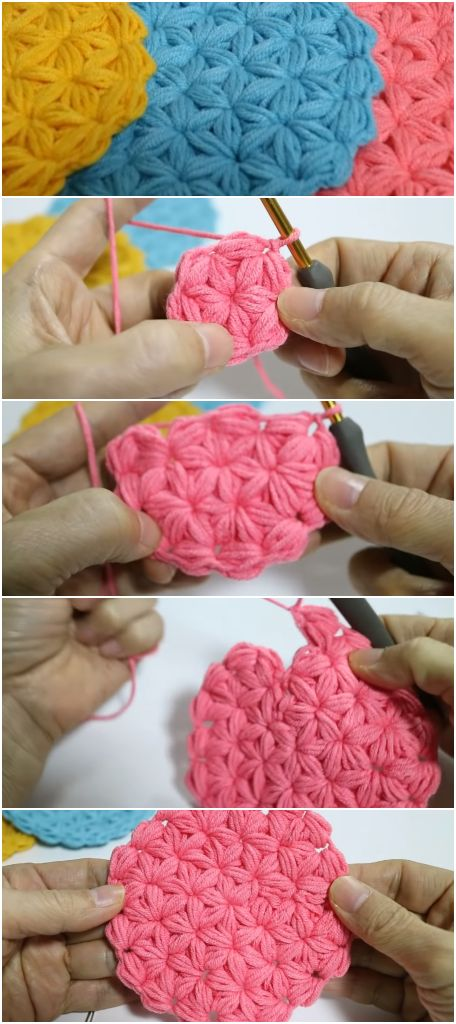 How To Crochet a Jasmine Stitch For Beginners