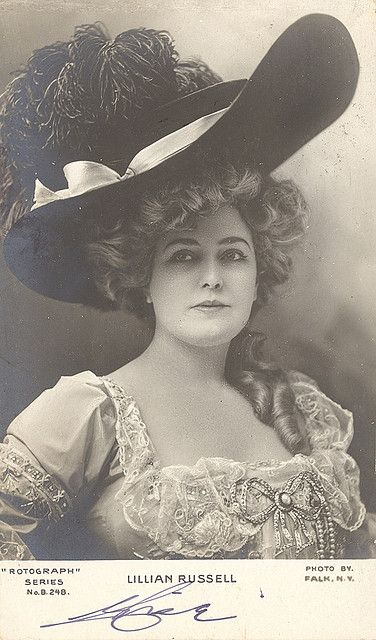 """lost-in-centuries-long-gone: """"Lillian Russell 1903 by sunnybrook100 on Flickr. """""""