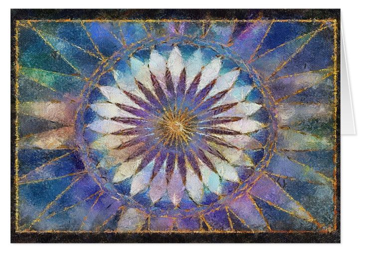 For a change, a simple gift card adorned with a pattern in blue and purple. It reminds me of an Aztec-style art piece. A  nice surprise is in store when the card is opened to read your warm and personal words!
