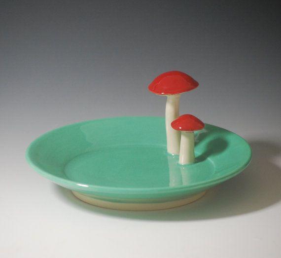 Mushroom Spoon Rest or Soap Dish, 20.00, lbegley