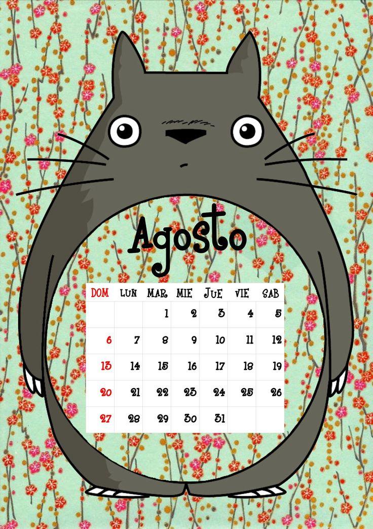 Calendario Totoro 2017 ♦ Agosto ♦