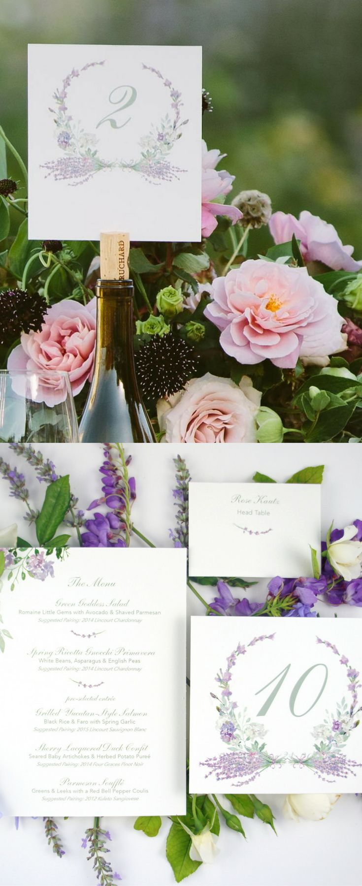 tulip wedding invitation templates%0A Hand Painted Lavender Suite for a Wine Country Wedding in Santa Ynez Valley