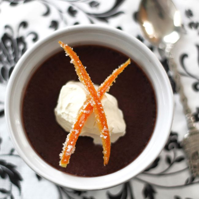 Chocolate & Orange Pots de Creme | Sweetness | Pinterest