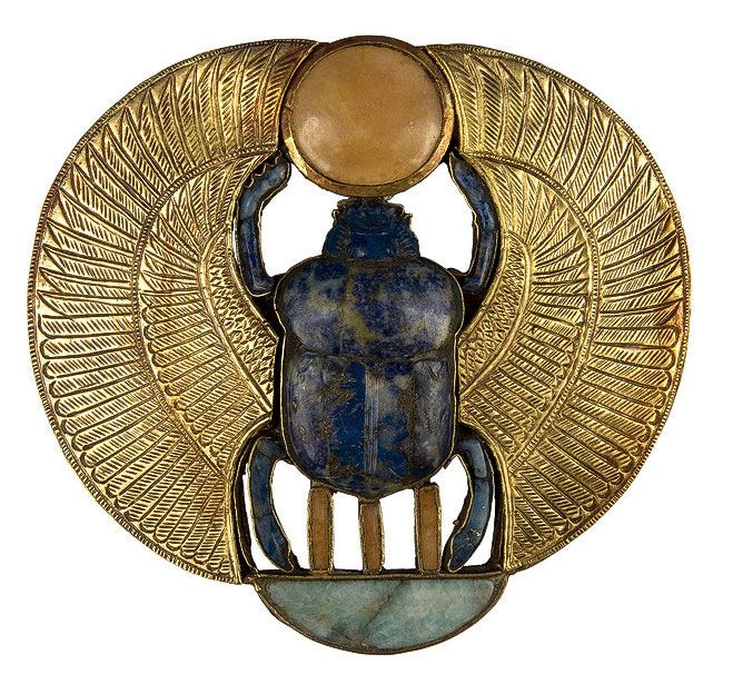 Ancient Egyptian Winged Scarab, 1323 BC, discovered in the tomb of Tutankhamun.