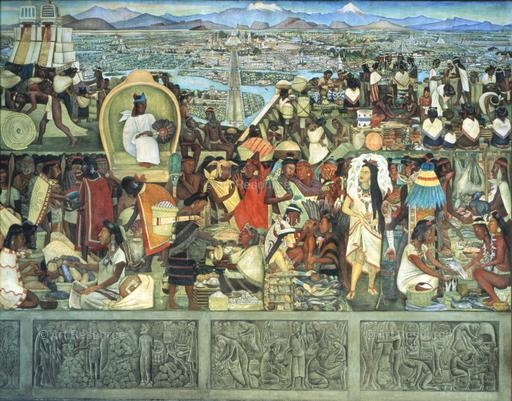 17 best images about diego rivera on pinterest oil on for Diego rivera tenochtitlan mural