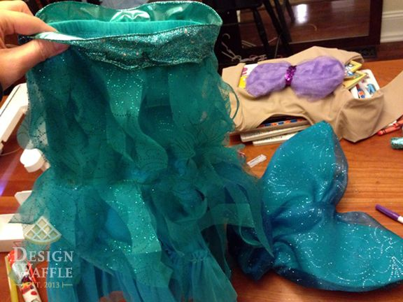 Some great ideas here for a little mermaid costume that would work for winter too :)