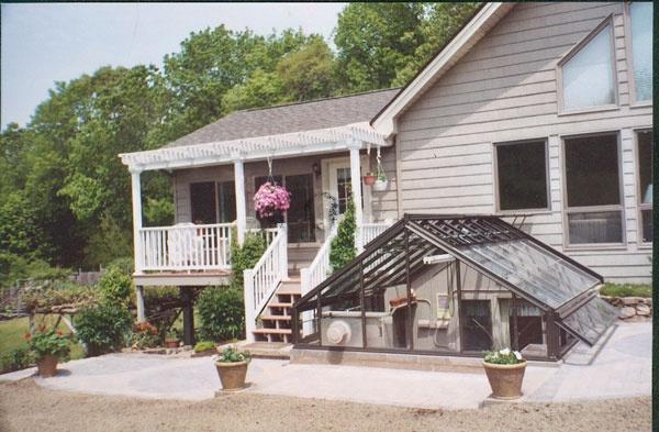 Basement Walkout Home Greenhouse Pinterest
