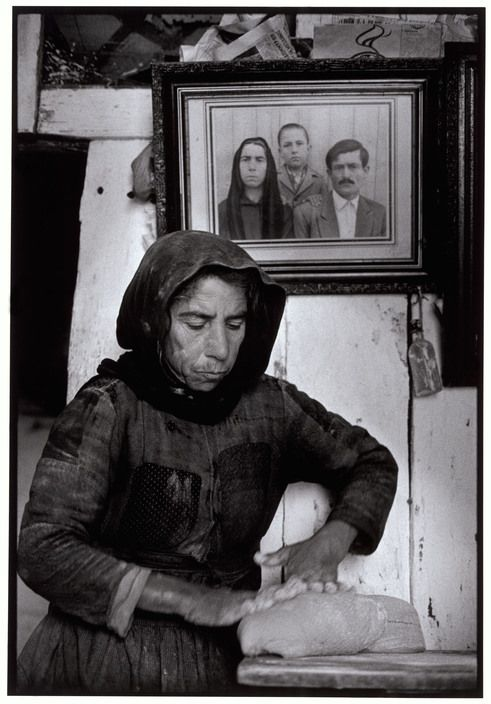 """Greece. Crete. Elounta 1964. Kneading dough. """"A Greek Portfolio"""" p.6 © Costa Manos/Magnum Photos"""