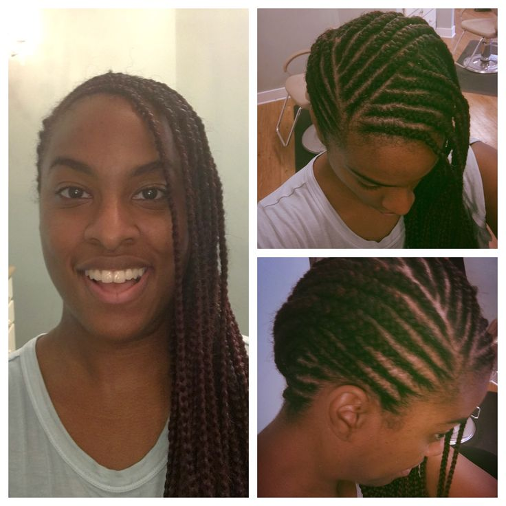Natural Hair Protective Style Feed In Braids Natural
