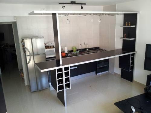 Separador de ambientes desayunador barra bodega copero luz - Altura barra cocina ...