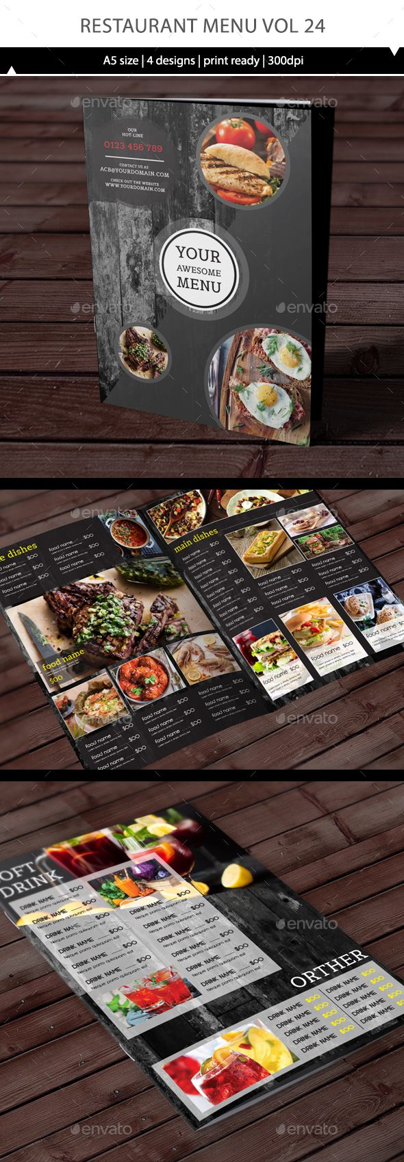 Restaurant Menu Design Template Vol 24 - Food Menus Print Template Vector EPS, AI Illustrator. Download here: https://graphicriver.net/item/restaurant-menu-vol-24/17421827?ref=yinkira