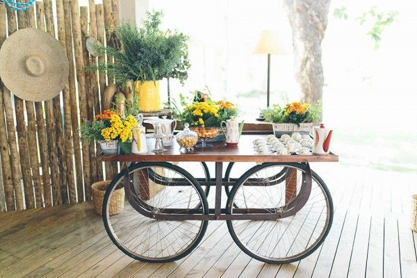 Romantic Tropical Wedding in Brazil -Coffee and Tea Station