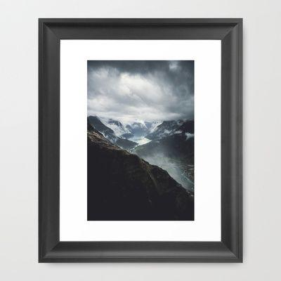 Via Ferrata Climbing in Loen, Norway Framed Art Print by Håkon Jørgensen - $32.00
