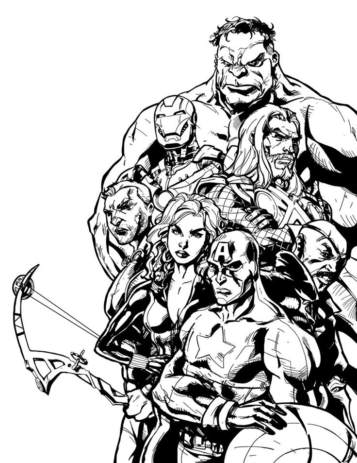 Coloring Pages Of Marvel Avengers : Best images about coloring pages superheroes on