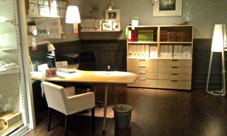 ikea office space galant corner desk and shelves office inspiration pinterest ikea. Black Bedroom Furniture Sets. Home Design Ideas