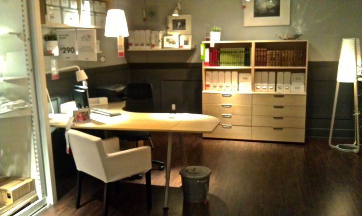 ikea office space galant corner desk and shelves
