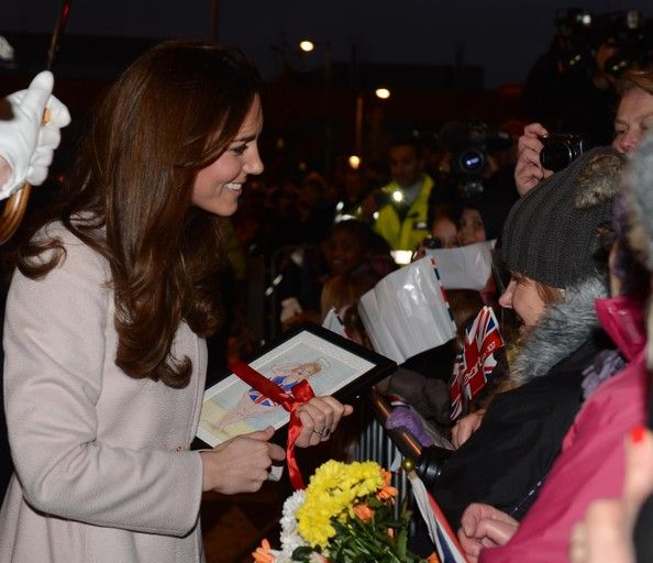 Catherine, Duchess of Cambridge visits Peterborough City Hospital during an official visit to Peterborough on November 28, 2012 in Peterborough, England.
