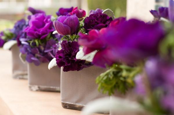 Tulips, Carnations, Stock, Purple Hydrangea and greenery.