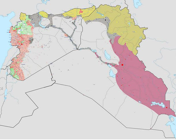 Syria Overview map of Syria Aug 12th 2015 HQwwwMediafire - best of world map hungary syria