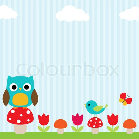 Vector of 'Owl background' on Colourbox