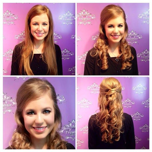 Hair Ideas - I know these are the Duggar girls, but I just love the 1/2 up, 1/2 down styles (curly, classy, and OUT OF THE FACE)