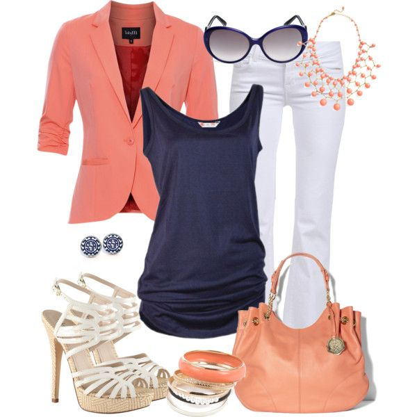 Coral and Navy :)