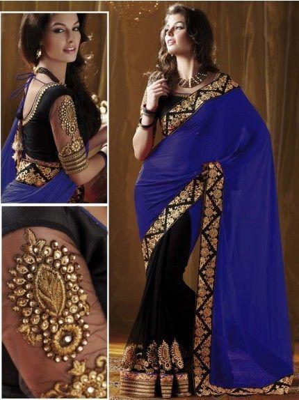 Indian New Ethnic Bollywood New Party Wear Saree Pakistani Wedding Festival Sari #BharatPlaza #Saree