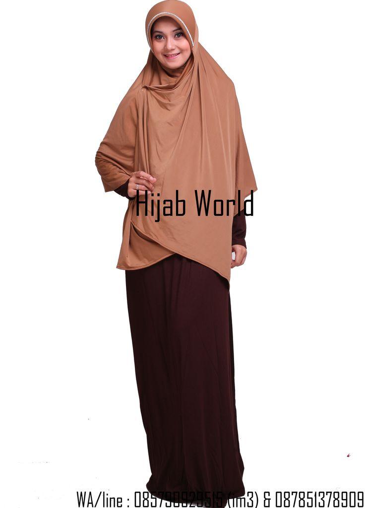 jilbab syar'i spandek coklat tua  sms/wa 0821.4284.5152