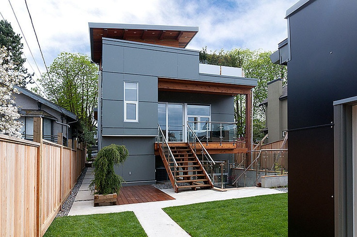 Fibre cement cladding. 3705 west 22nd - back of house