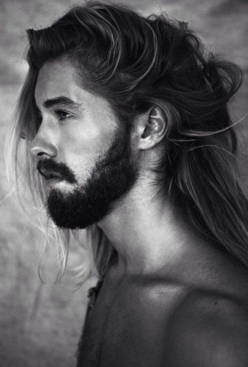 guys with long hair.