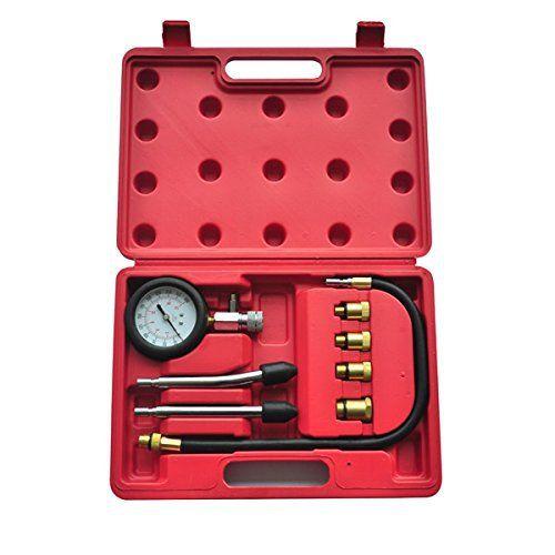 VidaXL 210005 Coffret testeur de compression pour Moteur essence 9 pièces: Vous ne pourrez plus vous passer de ce kit de testeur de…