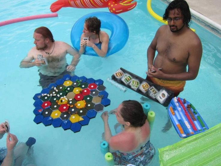 Catan in the pool! Best thing EVER.
