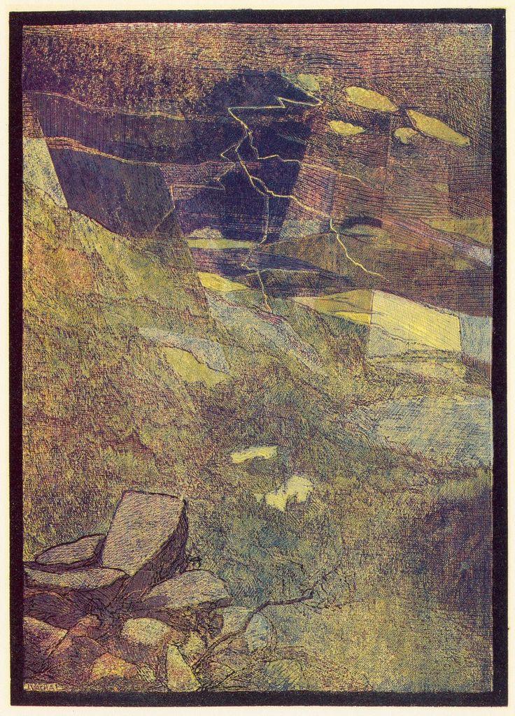 Josef Váchal (1884-1969) - Storm Over Luzný Mountain