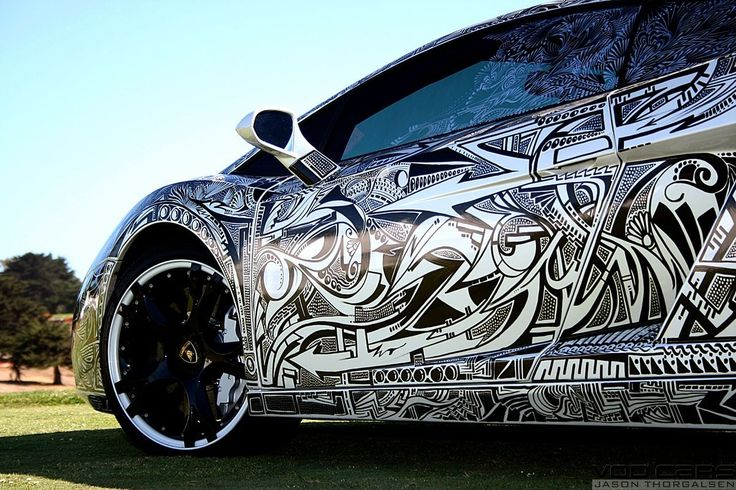 graphic art design car wrap black white very cool www