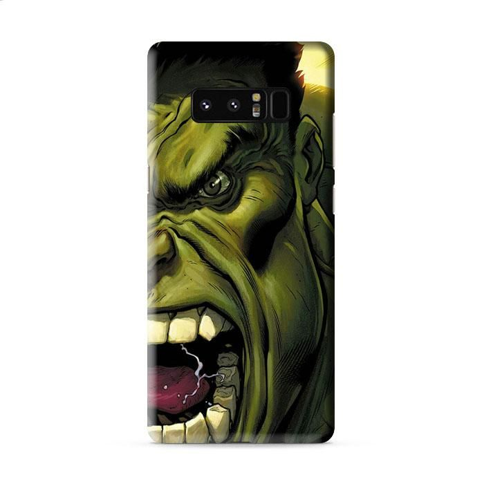 hulk cartoon face angry Samsung Galaxy Note 8 3D Case Caseperson