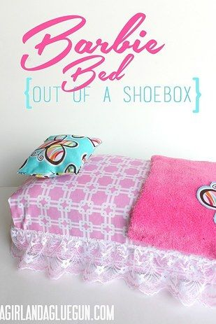Then transform a shoe box into a bed that doubles as doll storage. | 19 Adorable Barbie Accessories You Can Make For Your Kids