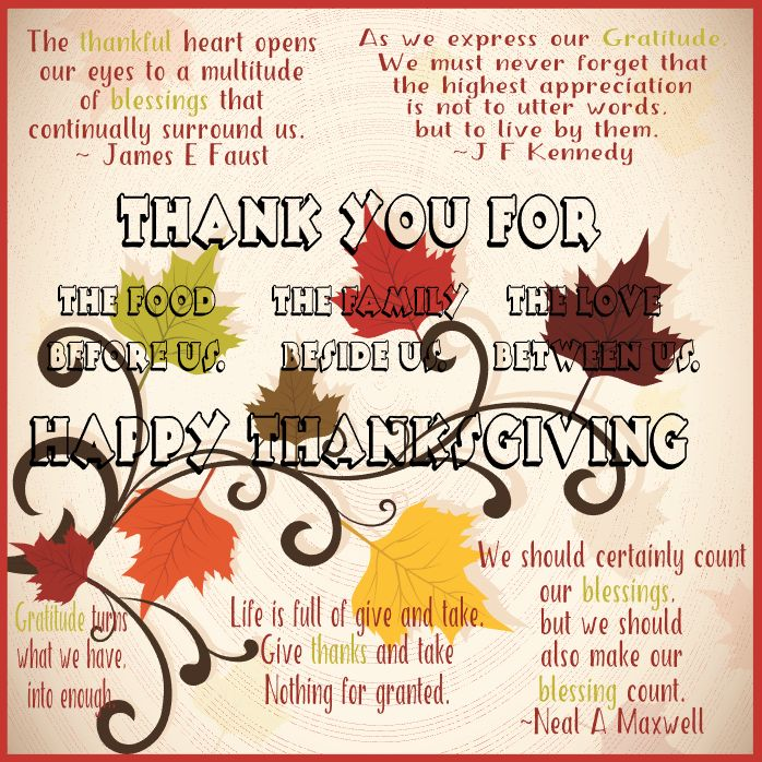 Words to Inspire Thanksgiving by The Art of Creativity Studio